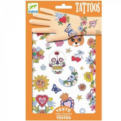 Tetoválás, Mexikói ünnep (Djeco, 9578, kreatív játék, 3-10 év)