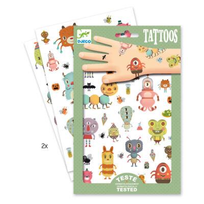 Tetoválás, Szörnyecskék (Djeco, 9581, fiús kreatív játék, 3-10 év)