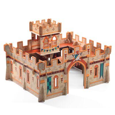3D Pop up Puzzle, Középkori vár (Djeco, 7714, fiús szerepjáték, 3-8 év)