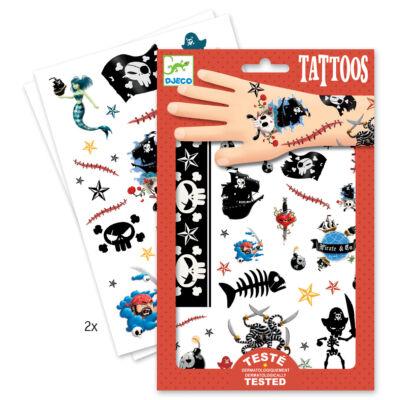 Tetoválás, Kalózos (Djeco,9584, fiús kreatív játék, 3-10 év)