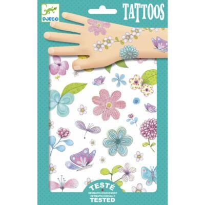 Tetoválás, Mező szépségei (Djeco, 9585, lányos kreatív játék, 3-10 év)