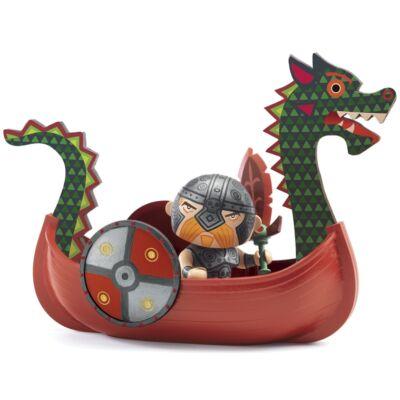 Drack & Ze drakkar (Djeco, 6818, Wiking Drack hajójával, szerepjáték, 4-10 év)