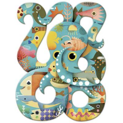 Művész puzzle, Octopus (Djeco, 7651, 350 db-os kirakó, 6-12 év)
