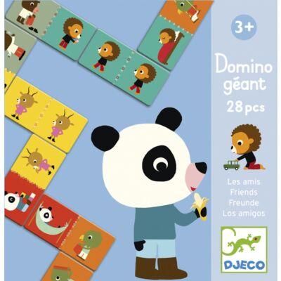Óriás dominó, Barátok (Djeco, 8118, taktikai játék, 2-6 év)