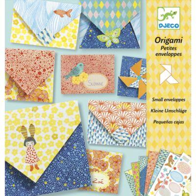 Origami, Kicsi díszborítékok (Djeco, 8778, kreatív hajtogatós játék, 7-13 év) (Djeco, 1, kreatív játék, 5-10 év)