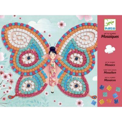 Pillangók (Djeco, 8898, mozaikkép készítés, 4-8 év)