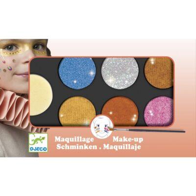 Arcfesték, metál színű, palette 6 colours (Djeco, 9232, arcfesték, 3-12 év)