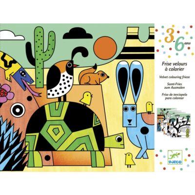 Bársony színező, Colorado (Djeco, 9627, kreatív készlet, 3-6 év)