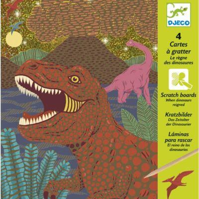 Karcképek, Dinoszauruszok (Djeco, 9726, kreatív készlet, 7-13 év)