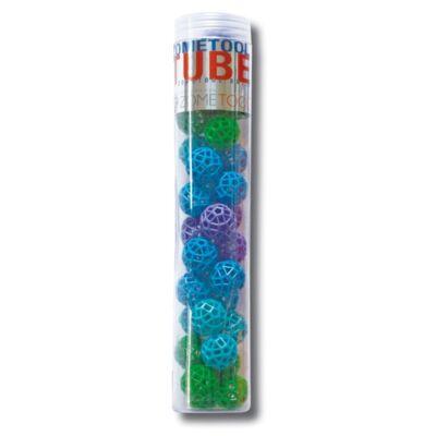 Zometool,  Cubes 1. (34 kék/zöld golyó, Tudományos építőjáték, 6-99 év)