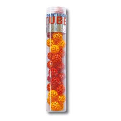 Zometool,  Cubes 2. (34 piros/sárga golyó, Tudományos építőjáték, 6-99 év)