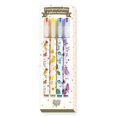 Csillámtoll, 4 szín (Djeco, 3740, papír írószer, 6-99 év)