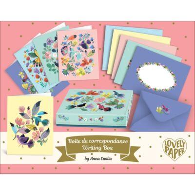 Lovely Paper, Levél szett, Anna Emilia writing set (Djeco, 3606, papír írószer 6-99 év)