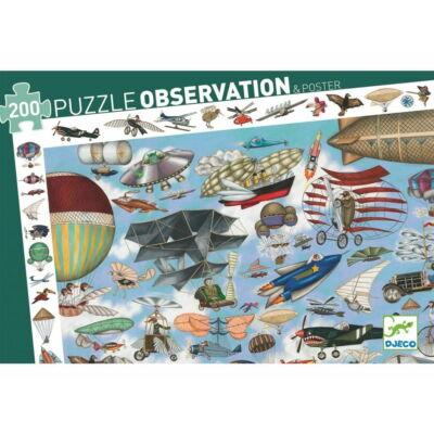 Megfigyelő puzzle, Repülő klub (Djeco, 7451, 200 db-os kirakó, 6-12 év)