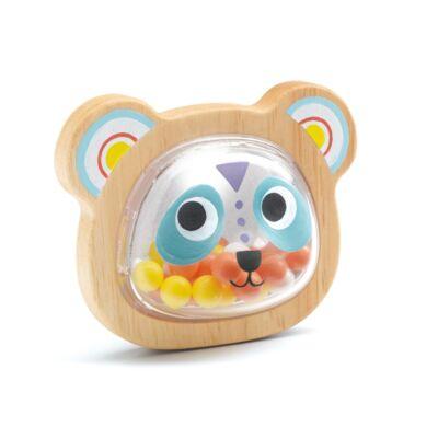 Fa bébi csörgő, Panda (Djeco, 6114, bébi fajáték, 0-2 év)