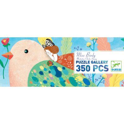 Művészi puzzle, Miss Birdy - Madárlány (Djeco, 7616, 350 db-os kirakó, 6-99 év)