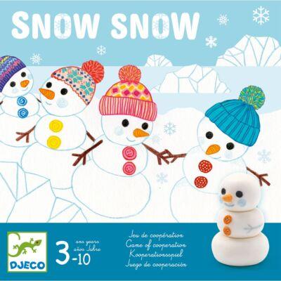 Snow Snow (Djeco, 8492, hóemberes logikai társasjáték, 3-99 év)