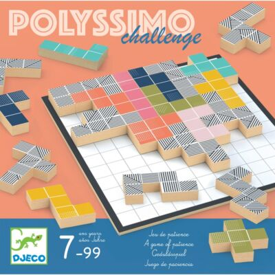 Polyssimo Challenge (Djeco, 8493, térfeltöltő taktikai társasjáték, 7-99 év)