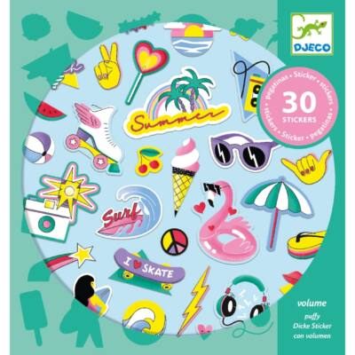 Pufi matrica készlet, California (Djeco, 9262, kreatív játék, 3-10 év)
