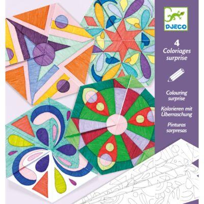 Mandala színező képek - Rosette (Djeco, 9656, kreatív játék, 6-9 év)