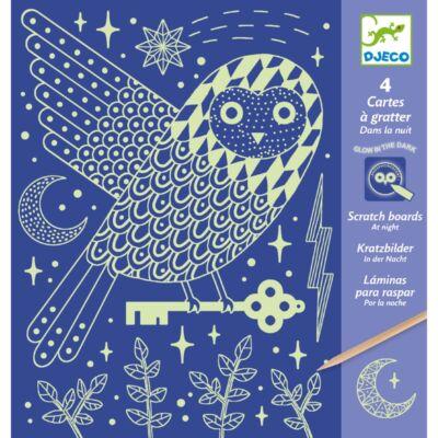 Karcképek, Éjszaka - At Night (Djeco, 9735, kreatív készlet, 7-13 év)