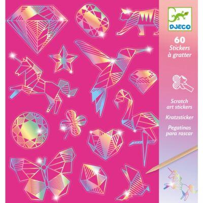 Karckép matricákkal, Gyémánt - Diamond (Djeco, 9736, kreatív készlet, 7-13 év)