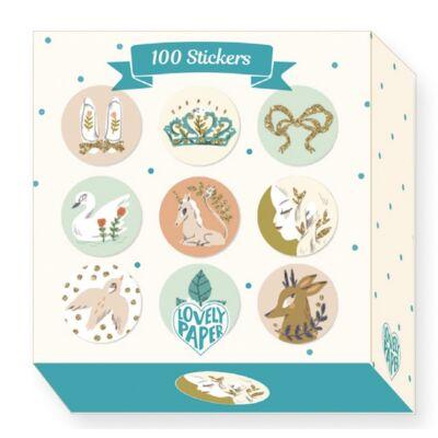 100 matrica, Lucille (Djeco, 3700, kreatív készlet, 3-10 év)