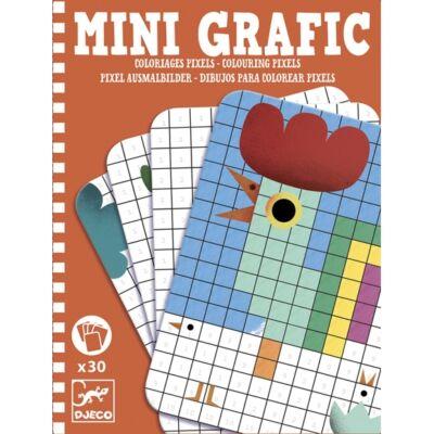 Mini Grafic, Pixel képek (Djeco, 5388,színező úti játék, 5-10 év)