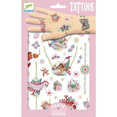Tetoválás, Fiona ékszerei (Djeco, 9586, lányos kreatív játék, 3-10 év)