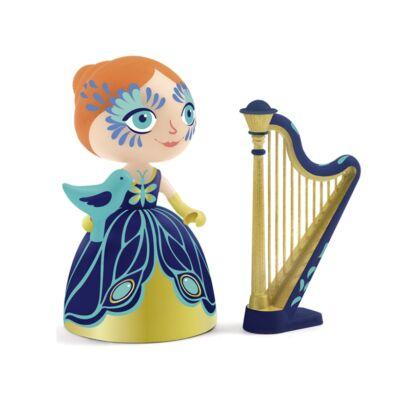 Arty Toys, Ze hercegnő hárfával (Djeco, 6771, bábu, 3-10 év)