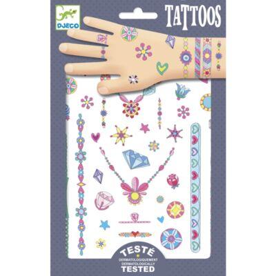 Tetoválás, Jenni ékszerei (Djeco, 9587, lányos kreatív játék, 3-10 év)