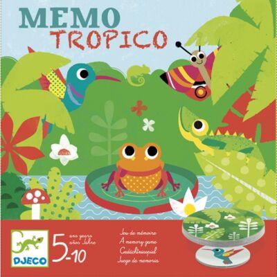 Memo tropico (Djeco, 8444, memória társasjáték, 5-10 év)