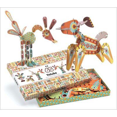 Volubo, Állatok (Djeco, 5630, kreatív építőjáték, 3-8 év)