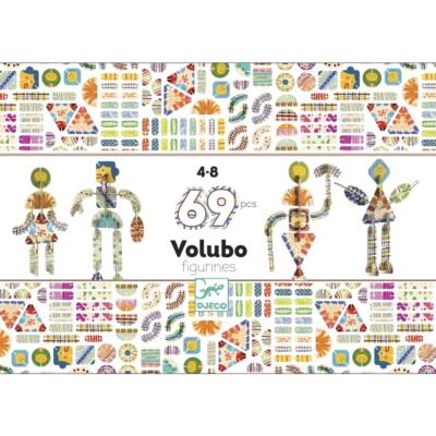 Volubo, Figurák (Djeco, 5631, kreatív építőjáték, 3-8 év)