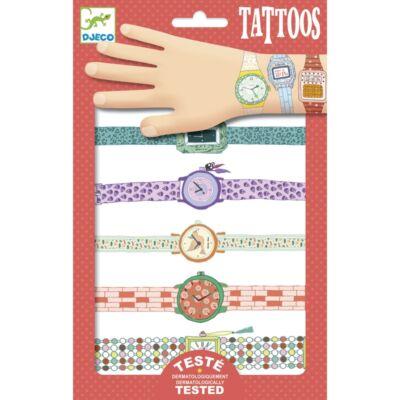Tetoválás, Lányos órák (Djeco, 9588, lányos kreatív játék, 3-10 év)