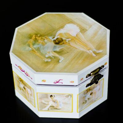 Zenélő ékszerdoboz, Balerina (okta) (Musicbox, zenedoboz, 3-99 év)