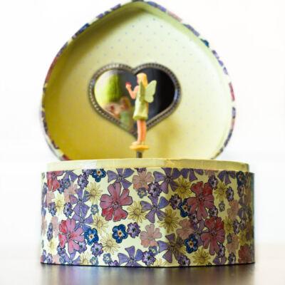 Zenélő ékszerdoboz, Százszorszép virágpillangóval (Musicbox, zenedoboz, 3-99 év)