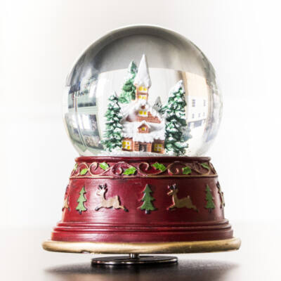 Zenélő hógömb, Kápolna  (Musicbox, ajándéktárgy, 3-99 év)