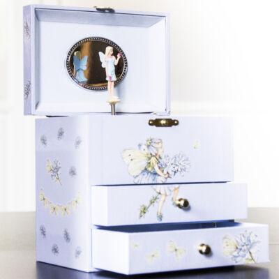 Zenélő ékszerdoboz, Katáng virágtündér (emeletes) (Musicbox, zenedoboz, 3-99 év)