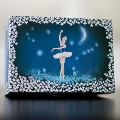 Zenélő ékszerdoboz, Táncoló balerina (kék) (Musicbox, zenedoboz, 3-99 év)
