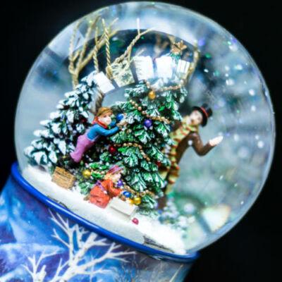 Zenélő hógömb, Karácsonyfa díszítés (Musicbox, ajándéktárgy, 3-99 év)