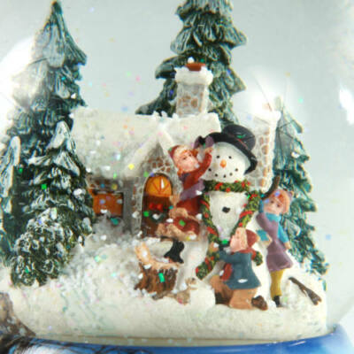 Zenélő karácsonyi hógömb, Hóemberépítés (Musicbox, ajándéktárgy, 8-99 év)