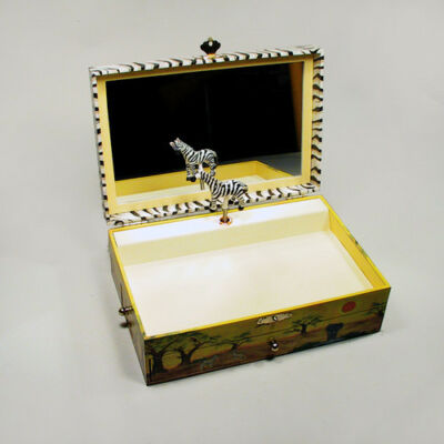 Zenélő ékszerdoboz, Szavanna kollekció ,Zebra (Musicbox, zenedoboz, 3-99 év)
