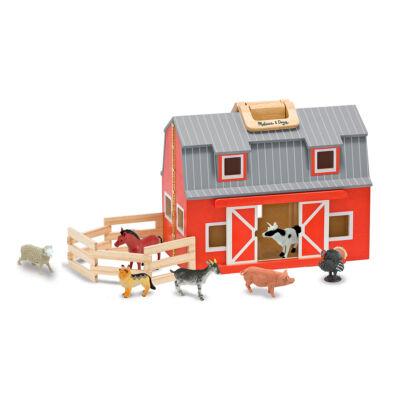 Hordozható farm, háziállatokkal (Melissa&Doug, fa szerepjáték, 2-8 év)