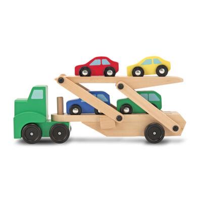 Fa autószállító kamion, (Melissa&Doug, 2-5 év)
