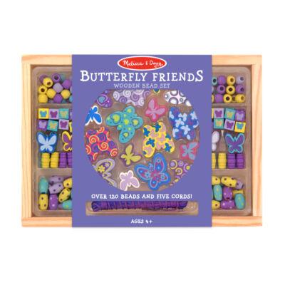 Fa ékszerkészítő szett, Pillangós (Melissa&Doug, kreatív gyöngyfűző, 3-8 év)