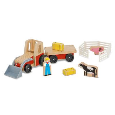 Traktor kiegészítőkkel, fajáték (Melissa&Doug, 2-10 év)