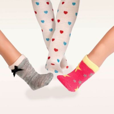 OUR GENERATION Heart and Sole - aranyos zoknik és harisnya
