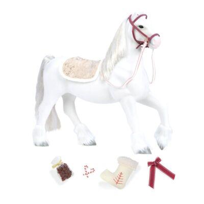 OUR GENERATION Clydesdale karácsonyi ezüst paripa (lovas szerepjáték, 3-10 év)