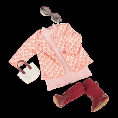 OUR GENERATION Rózsaszín ruha kabátkával